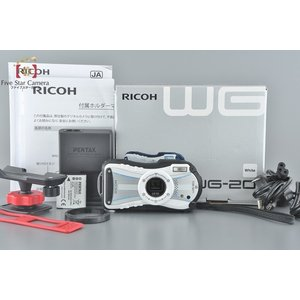 【中古】RICOH リコー WG-20 ホワイト ホルダーマウント付属|five-star-camera