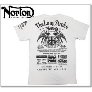 天竺生地にNortonお得意の刺しゅう・プリントを胸・袖・BACKにふんだんに散りばめた半袖Tシャツ...