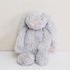 JELLYCAT Medium Bashful Silver Bunny うさぎ ぬいぐるみ シルバー|fiveandten