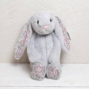 JELLYCAT Medium Blossom Silver Bunny うさぎ ぬいぐるみ シルバー 花柄|fiveandten