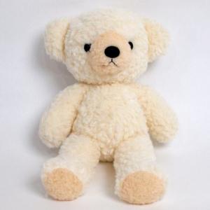 クマのフカフカぬいぐるみ M クリーム|fiveandten