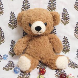 クマのフカフカぬいぐるみ S ブラウン|fiveandten