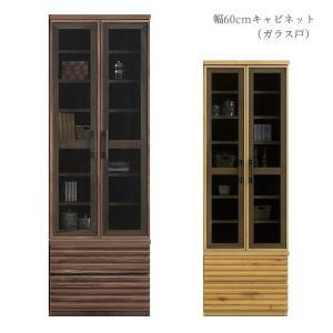 キャビネット シェルフ 本棚 リビング収納 リビングボード ガラスキャビネット 書棚 幅60cm 国産 モダン シンプル|fiveseason