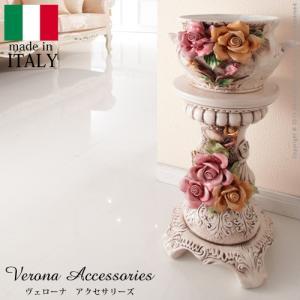 花瓶台 フラワースタンド 陶製コラムポット ヴェローナ アクセサリーズ ヨーロピアン アンティーク風|fiveseason