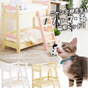 かわいい猫用のベッド パイン無垢材を使用したナチュラル感あふれるデザイン 人間用さながらの本格的なつ...
