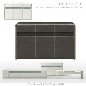 サイドボード キャビネット 薄型 完成品 コンパクト スリム 幅120cm ローボード ロータイプ リビング収納 ホワイト|fiveseason