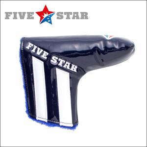 SALE ファイブスター FSHC-001PT ピン型 パター用 ヘッドカバー A1 ネイビー/ホワイト 星|fivestar2016
