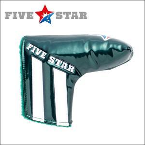 SALE ファイブスター FSHC-001PT ピン型 パター用 ヘッドカバー A3 グリーン/ホワイト 星|fivestar2016