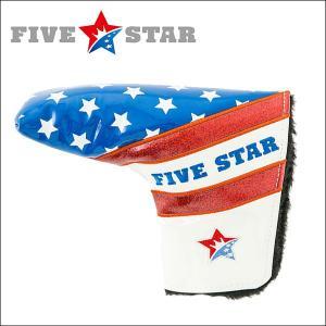 FIVESTAR(ファイブスター) FSHC-001PT ピン型 パター用 ヘッドカバー B1 ホワイト/ブルー|fivestar2016