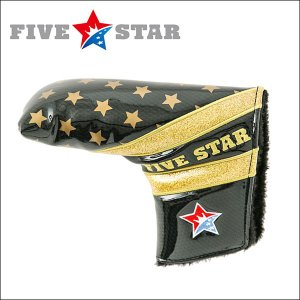 FIVESTAR(ファイブスター) FSHC-001PT ピン型 パター用 ヘッドカバー B2 ブラック/ゴールド|fivestar2016