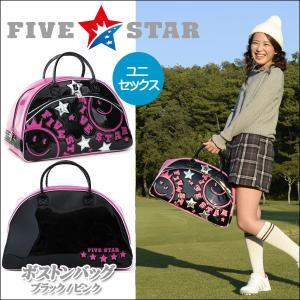 FIVESTAR(ファイブスター) FSBB-001 D3 ブラック/ピンク ボストンバッグ ゴルフバッグ