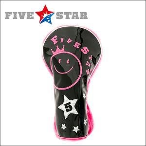 SALE ファイブスター FSHC-001D ドライバー用 ヘッドカバー D3 ブラック/ピンク 星|fivestar2016