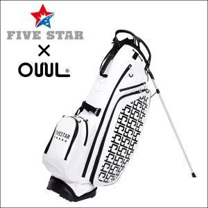 FIVESTAR×OUUL F5 ホワイト 軽量 キャディバッグ ゴルフバッグ|fivestar2016