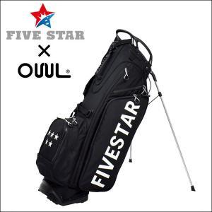 FIVESTAR×OUUL ロゴ ブラック 軽量 キャディバッグ ゴルフバッグ|fivestar2016