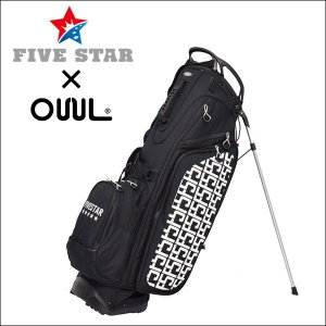 FIVESTAR×OUUL F5 ブラック 軽量 キャディバッグ ゴルフバッグ|fivestar2016