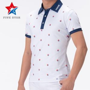 FIVESTAR ファイブスター ロゴプリントポロ メンズ ポロシャツ|fivestar2016