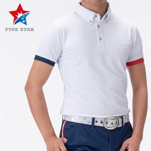 FIVESTAR ファイブスター カシオペアロゴバックラインポロ メンズ ポロシャツ|fivestar2016