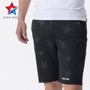 FIVESTAR ファイブスター スタープリントストレッチショートパンツ ブラック メンズ パンツ|fivestar2016