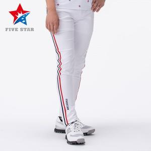 FIVESTAR ファイブスター サイドラインストレッチロングパンツ ホワイト メンズ ロングパンツ|fivestar2016
