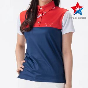 FIVESTAR ファイブスター カシオペアロゴカラースキームポロ レディース ポロシャツ|fivestar2016