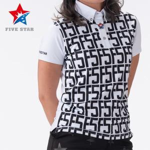 FIVESTAR ファイブスター F5ロゴバックラインポロ レディース ポロシャツ|fivestar2016