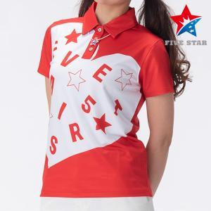 FIVESTAR ファイブスター ハートロゴポロ レディース ポロシャツ|fivestar2016