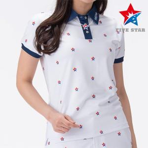 FIVESTAR ファイブスター ロゴプリントポロ レディース ポロシャツ|fivestar2016