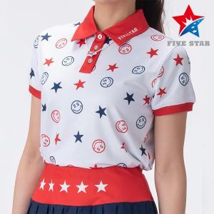 FIVESTAR ファイブスター スマイルスターポロ レディース ポロシャツ|fivestar2016