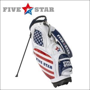 FIVESTAR(ファイブスター) エナメルスタンドキャディバッグ トリコロール FSCB-EN202 ゴルフバッグ|fivestar2016