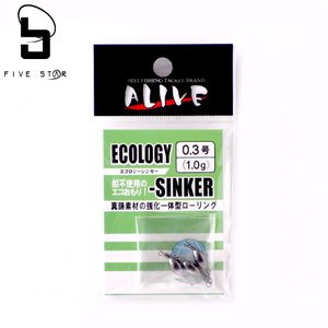 ALIVE/アライブ エコロジーシンカー 0.8号/FIVESTAR/ファイブスター fivestarfishing