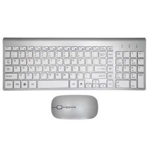 キーボード 人間工学超薄型低ノイズ 2.4 グラムワイヤレスキーボードマウスコンボワイヤレスマウス ...
