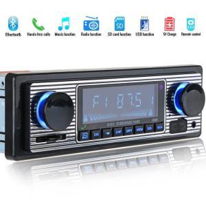 オーディオ機器 デジタル ブルートゥース Bluetooth カーステレオ ヴンテージ車ラジオ MP...