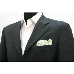 ポケットチーフ 結婚式 ワンタッチ ブランド フィックスポン fixpon メンズ オリジナル イエローグリーン パターン 西陣織 送別 パーティー セット ギフト|fixpon