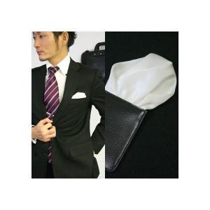 ポケットチーフ 結婚式 ワンタッチ ブランド フィックスポン fixpon メンズ パッフド2 シルク ホワイト 送別 パーティー セット ギフト 贈り物|fixpon