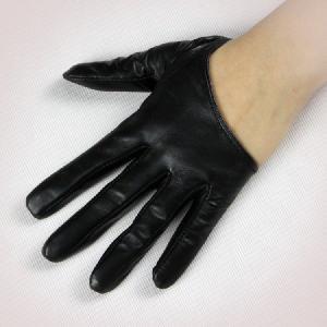 ハロウィン コスプレ 本革 手袋 ラム革 5本タイプ フィンガーグローブ ハーフグローブ レザー手袋|fizi