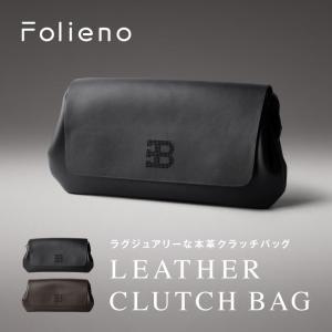 メンズ セカンドバッグ 本革 男女兼用 日本革製品ブランドFolieno(フォリエノ) 高級牛革 ビジネス 自社オリジナル 革命的なデザイン 大容量 ビックサイズ|fizi