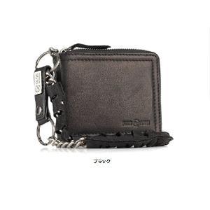 メンズ 本革 財布 自社オリジナルブランド イタリアンレザー ウォレットチェーン付き 横型ファスナー二つ折り財布 セール|fizi