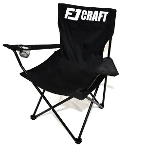 アウトドアチェア 折りたたみ椅子 キャンプチェア ドリンクホルダー付き 収納袋付き ブラック fjgear