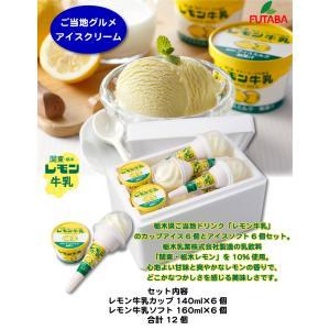 <レモン牛乳アイス カップ&ソフト各6個セット>レモンの香りが爽やかな素朴でどこかなつかしさを感じる美味しさ[全国送料込] [栃木県産品宇都宮市] FN021|fkd-netplaza|04