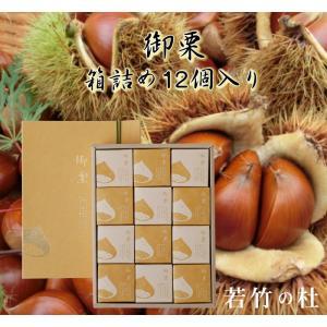 若竹の杜 若山農場 御栗 箱詰め12個入り|fkd-netplaza