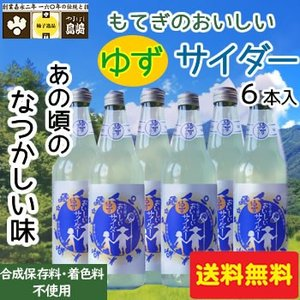 山星島崎 もてぎのおいしいゆずサイダー6本セット|fkd-netplaza