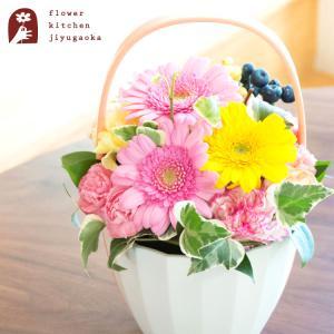 花 ギフト Thanks (サンクス) アレンジ 誕生日 記念日 お祝い花 即日発送 あすつく|fkjiyugaoka