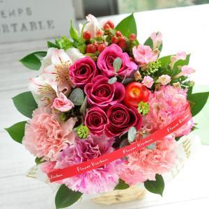 ギフト お祝い 即日発送 花 バラのアレンジメント 生花 フラワーギフト 誕生日 プレゼント|fkjiyugaoka