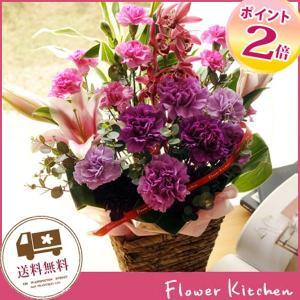 ムーンダストとユリのアレンジメント 花 フラワーギフト|fkjiyugaoka
