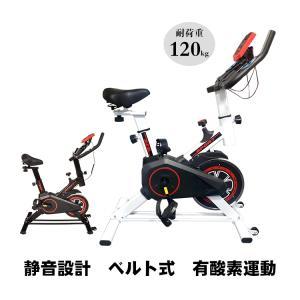 エアロバイク スピンバイク 家庭用 本格的 ダイエット エクササイズ自転車 フィットネスバイク 健康器具 DE018