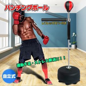 ボクシング パンチングボール レフレックスバー パンチバッグ 自立式 運動不足 ストレス解消 トレーニング ボクササイズ 自宅 ジム de101