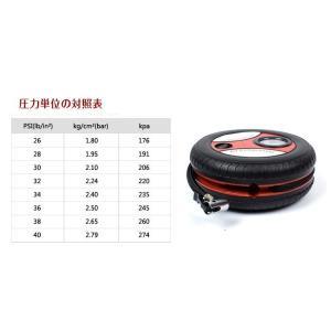 エアーコンプレッサー タイヤ型 DC12V 電...の詳細画像5