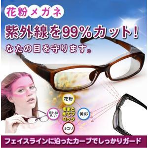 花粉メガネ 花粉症対策 グッズ 花粉予防眼鏡 UVカット めがね 紫外線 粉塵 保護 ギフト ホワイトデー SA004|fkstyle