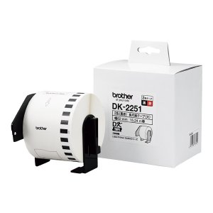 brother(ブラザー工業) DK-2251 DKテープ (サーマル紙・長尺紙テープ(黒赤) 国内正規品・国内保証) fksystem