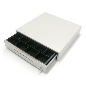キャッシュドロア MW-913(アイボリー) 【手動開閉式】 紙幣4種/貨幣9種 (幅420mm×奥行420mm×高さ91mm)|fksystem